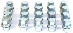 Steel Lug Nuts, Set Of 20, For Land Rover Discovery I, Defender 90 And 110, And Range Rover Classic