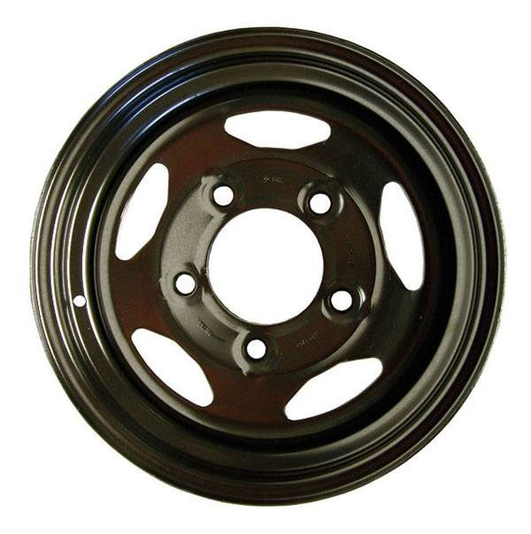 black steel wheel