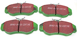 EBC Greenstuff Performance Front Brake Pads For Land Rover Discovery Series 2 And Range Rover P38 (4.0 And 4.6)