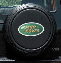 Genuine Spare Tire Cover With Land Rover Logo In Green For Discovery Series 2