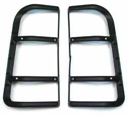 Genuine Lamp Guards, Rear Upper Pair, G4 Style, For Land Rover Discovery Series II, 2003 - 2004