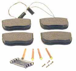 Front Brake Pads With Pins And Springs For For Range Rover Classic With ABS, 1990 - 1995