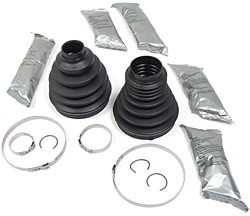 CV Boot Kit, Front Axle, Includes 2 Boots For One Side, Grease And Clamps, For Range Rover Full Size L322 2003 - 2009