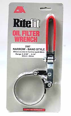 Ritefit oil filter wrench - 2587