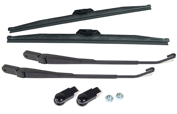 Wiper Arm And Winter Blade Upgrade Kit, Land Rover Discovery I Arms Retrofitted For Discovery Series II, Includes Front Pair Of Winter Wiper Blades