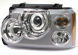 Genuine Headlamp Assembly, Halogen, Left Hand, For Range Rover Full Size L322 2006 - 2009